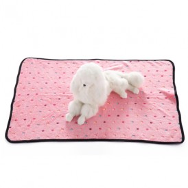 Pet Pink Flannel Color Dotted Blanket