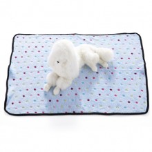 Pet Blue Flannel Color Dotted Blanket