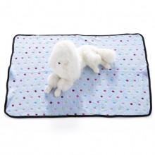 Pet Blue Flannel Color Dotted Blanket