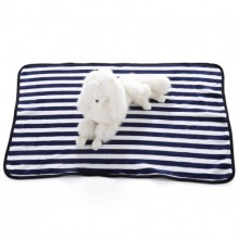 Pet Navy Blue Stripe Flannel Blanket