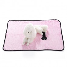 Pet Pink Flannel Bone Blanket