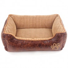 Suede Removable And Washable The Square Brown Pet Nest