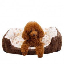 Beige Coral Cashmere Washable Waterproof The Square Pet Nest