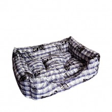 Cotton Printed Blue Square Warm Pet Nest
