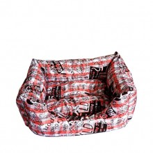Cotton Printed Red Square Warm Pet Nest