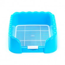 Blue Pet Toilet With Wall