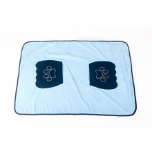 Blue Pet Absorbent Bath Towel Have Pockets