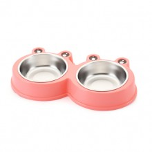 Pink Frog's Pet Stainless Steel Bowl
