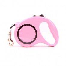 Pink Retractable Automatic Pet Traction Rope