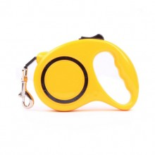 Yellow Retractable Automatic Pet Traction Rope