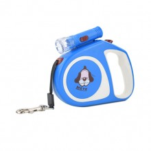 Blue Retractable Pet Traction Rope With Lights