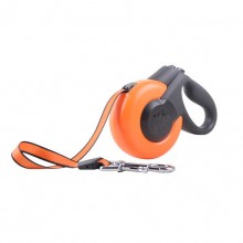 Orange Can Add Accessories Polyester Retractable Pet Traction Rope