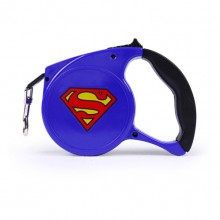 Blue Superman Cartoon Automatic Retractable Pet Traction Rope
