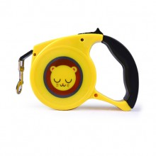 Yellow Lion Cartoon Automatic Retractable Pet Traction Rope