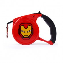 Red Lron Man Cartoon Automatic Retractable Pet Traction Rope