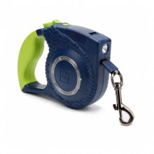 Blue Portable Retractable Pet Traction Rope With LED Lights