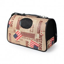 American Flag Oxford Out Messenger Shoulder Pet Backpack