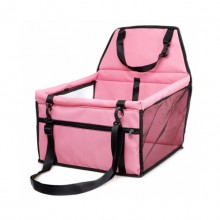 Pink Collapsible Breathable Net Yarn Support Rod Car Pet Bag