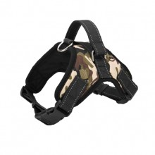 Camouflage Burst Large Dog Saddle Straps Traction Rope