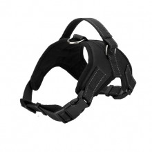 Black Burst Large Dog Saddle Straps Traction Rope