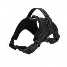 Black Burst Large Dog Saddle Straps Traction Rope