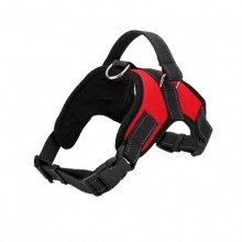Red Burst Large Dog Saddle Straps Traction Rope