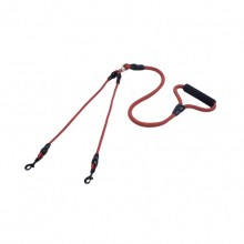 Brown Nylon Rope Tow Two Anti-Winding Dog Double Traction Rope