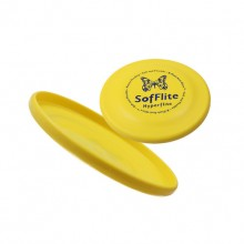 Yellow Pet Toy Frisbee Super Soft Dog Frisbee Disc
